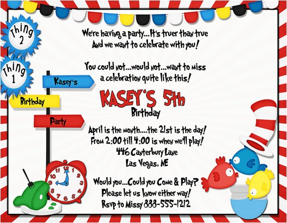 Party Rhymes Invitations Kids theme Party 39 S Time to Rhyme Birthday Invitations