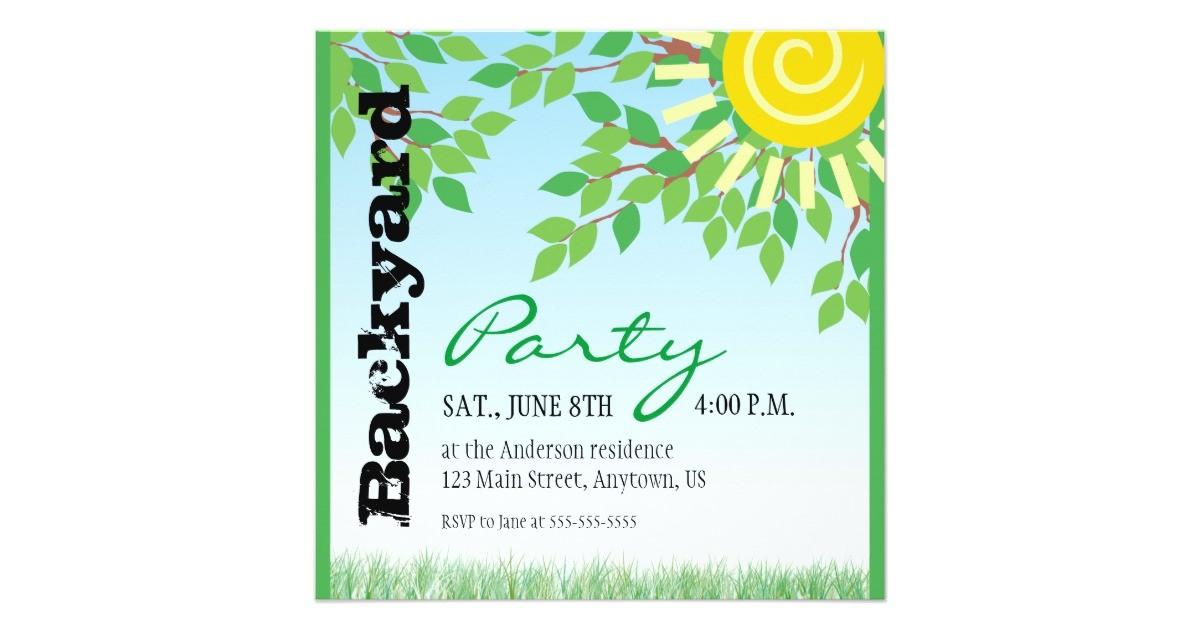 backyard party invitation 161807192662203031