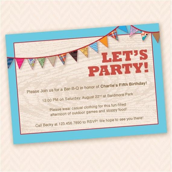 outdoor fun birthday party invitation