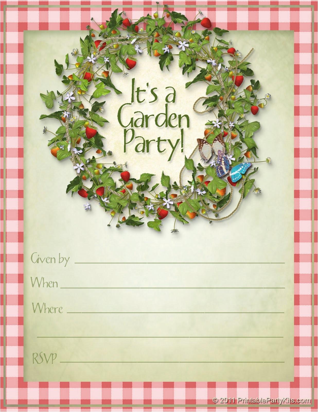 summer garden party invitations