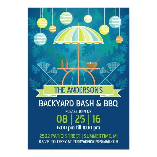 summer night patio party invitation 161621075779341376