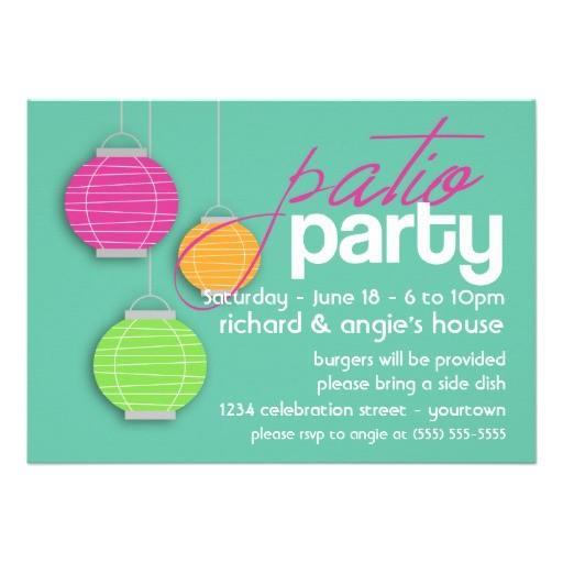 summer patio party invitations 161561464819286734