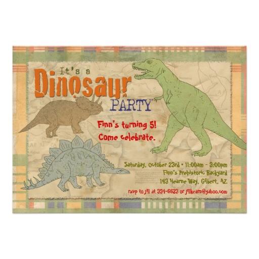 dinosaur party invitation personalized 161986399314610313