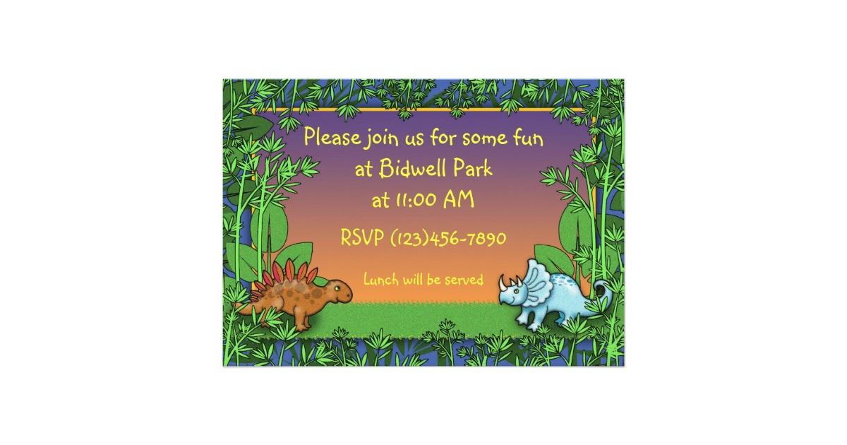 personalized dinosaur birthday party invitations 161122010310144273