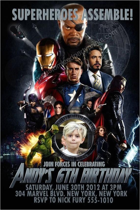 personalized avengers invitations custom