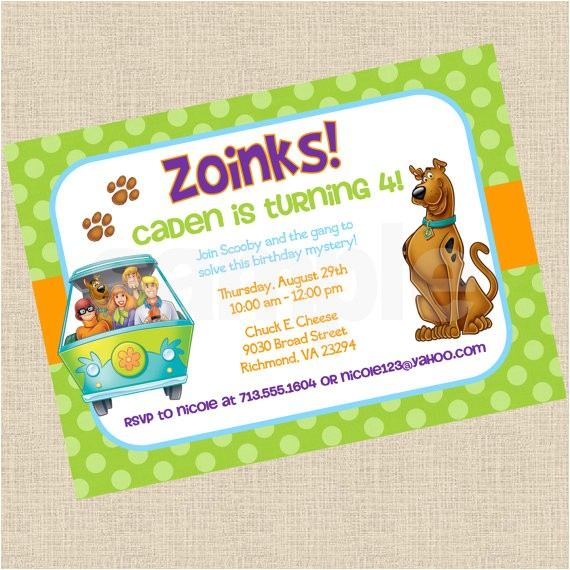 gorgeous personalized scooby doo party invitations in cheap article