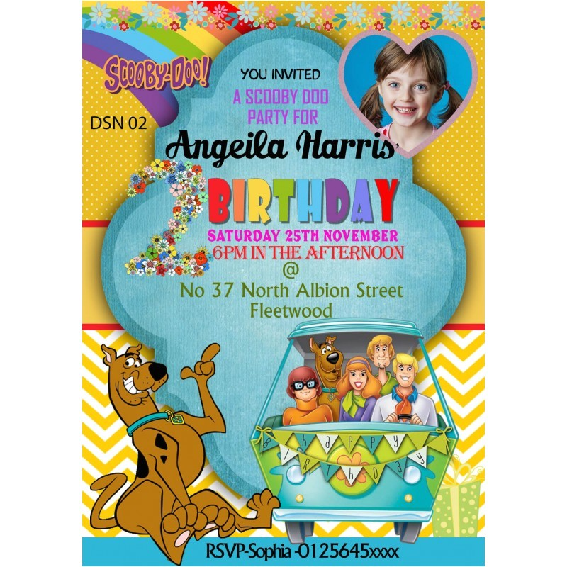 190 personalized scooby do party invitations thank you cards