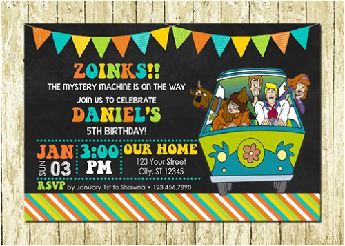 Personalized Scooby Doo Party Invitations Scooby Doo Personalized Printed Birthday Invitations