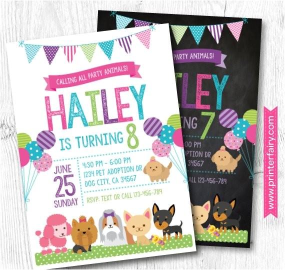 puppy invitation pet adoption party