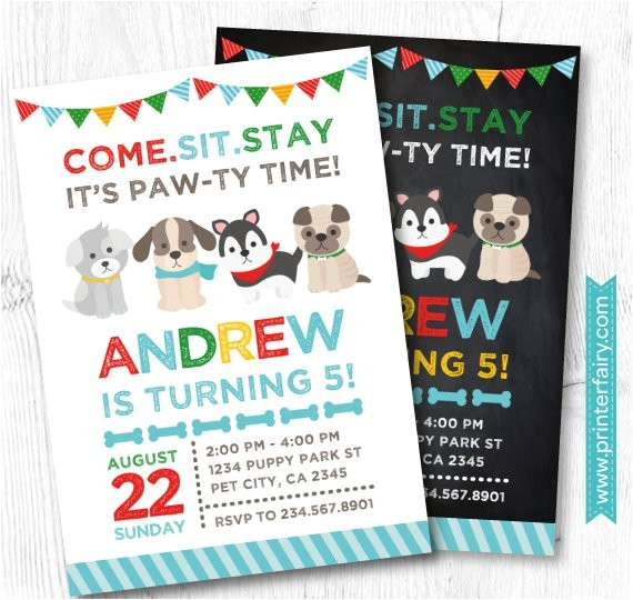 puppy invitation puppy birthday party pet 3