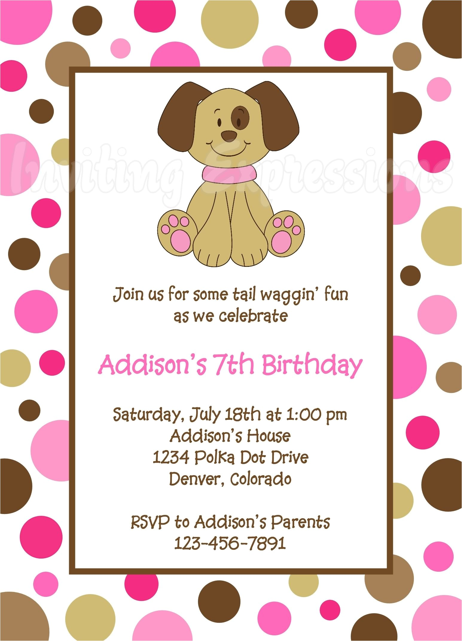awesome 10 puppy birthday invitations download