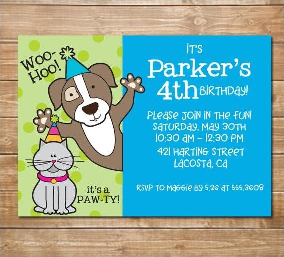 pet party humane society invitation