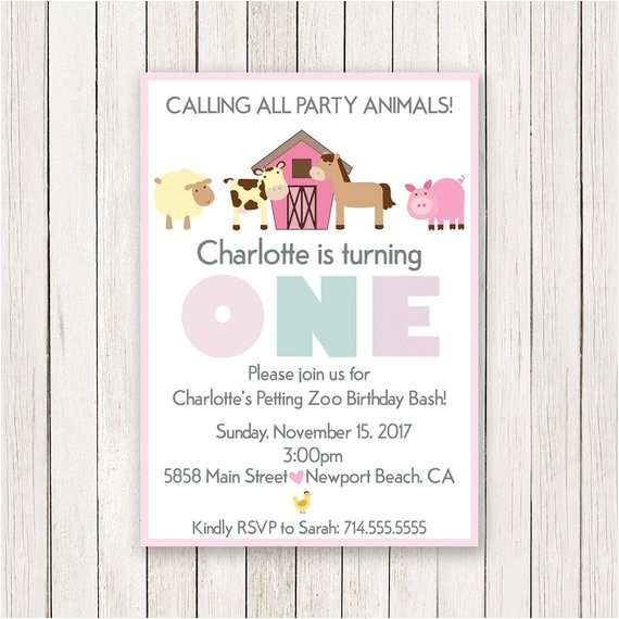 girl barnyard birthday invitation petting zoo 6