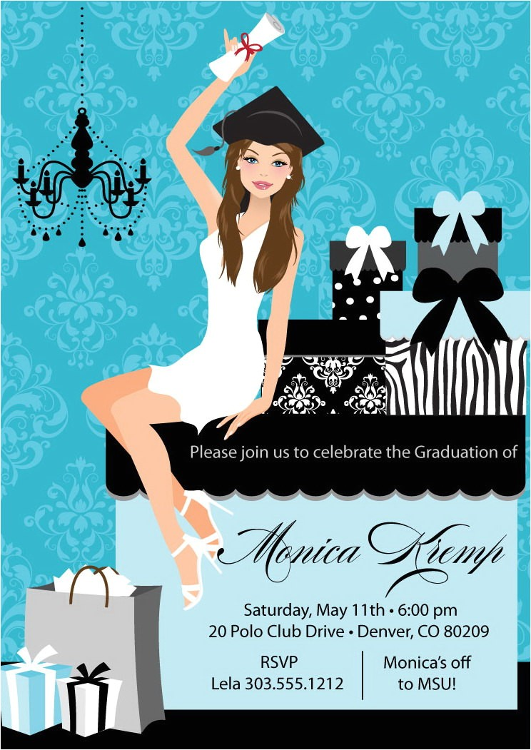 beautiful graduate graduation party invitations diy grad announcement