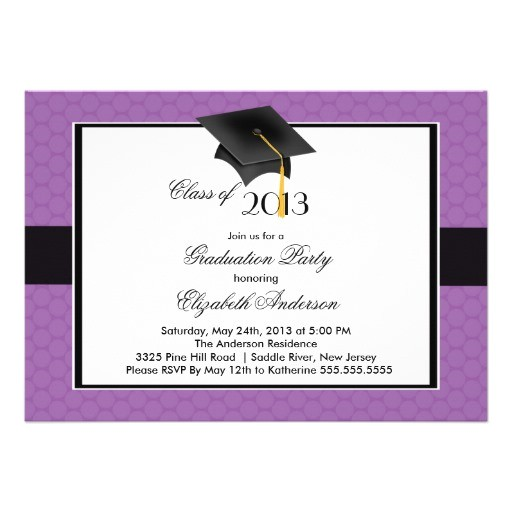 modern graduate cap tassel graduation party invitation 161481597471201410