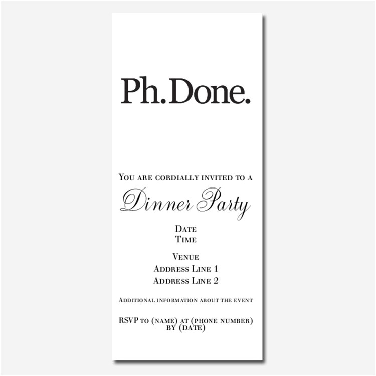 phd graduation invitations