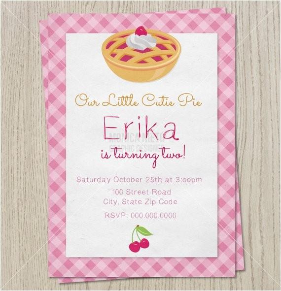 custom printable cutie pie birthday party