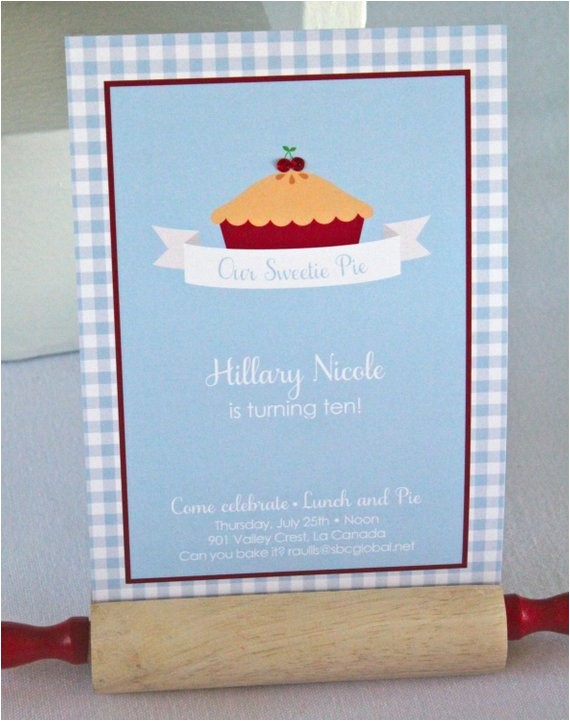 sweet pie party invitations by bloom