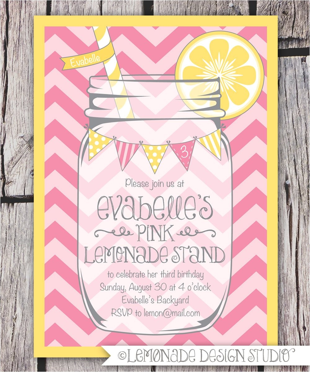 mason jar and chevrons invitation