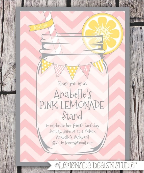 pink lemonade invitation printable