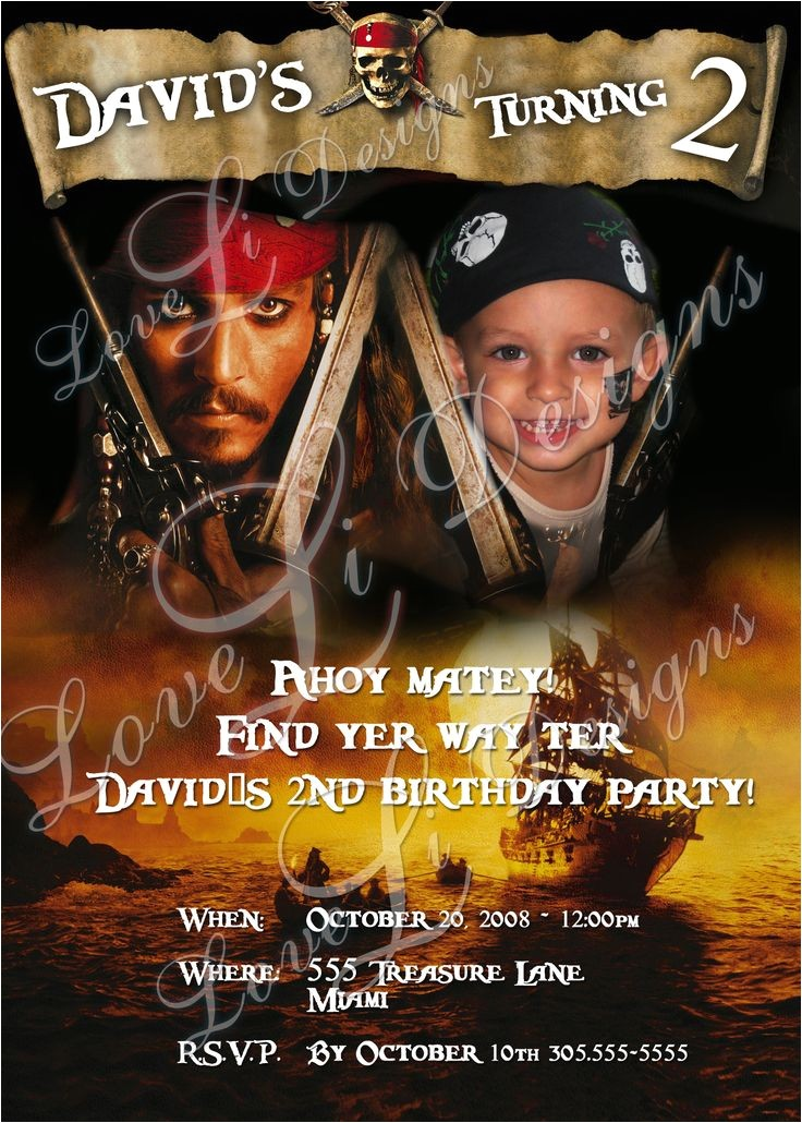 jojo pirates of the caribbean party
