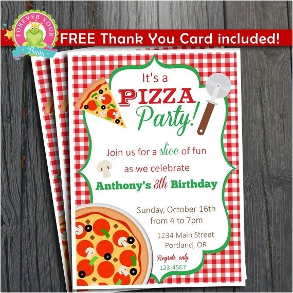 pizza party invitation free thank you ref shop home active 7