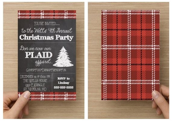 printable plaid christmas party ref shop home active 1