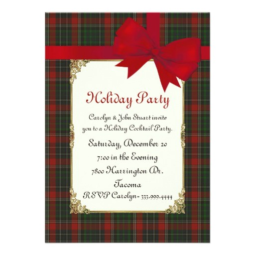 stuart clan tartan plaid custom christmas party 5x7 paper invitation card 161977880684150733