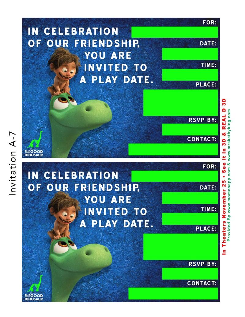 free good dinosaur playdate party printable gooddinoevent momcoapp