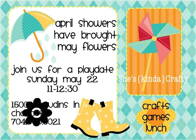 play date april showers to may flowers