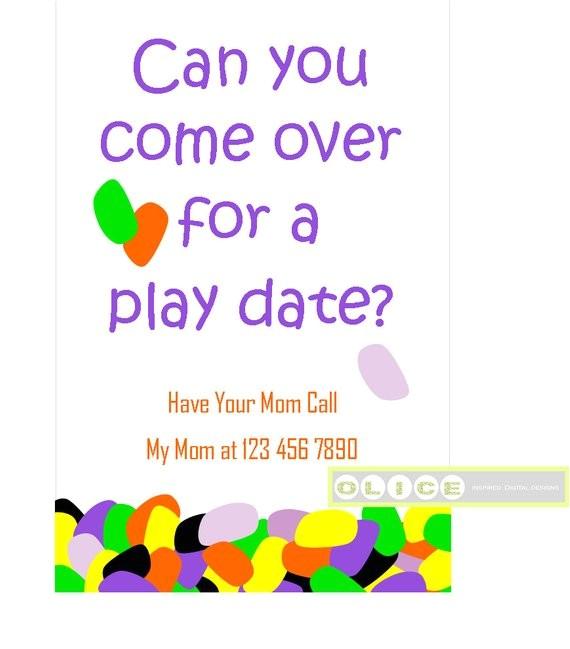 play date invitation cards school