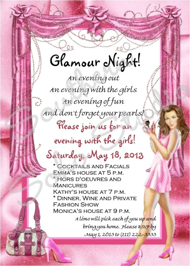 pleasure party invitations