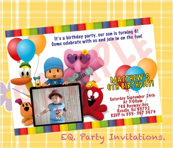 pocoyo birthday invitation printable