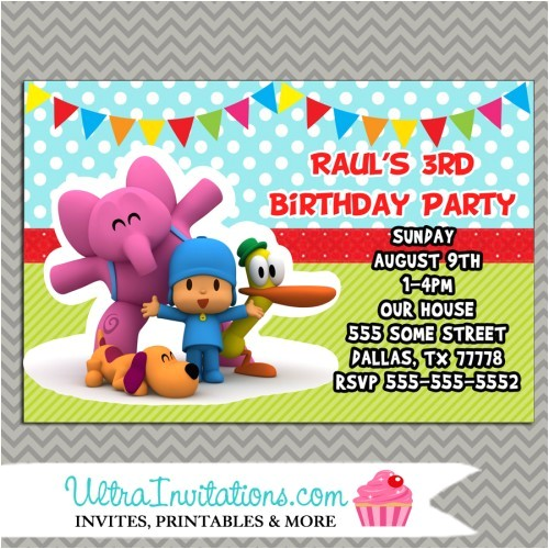 pocoyo birthday invitations 2017 new