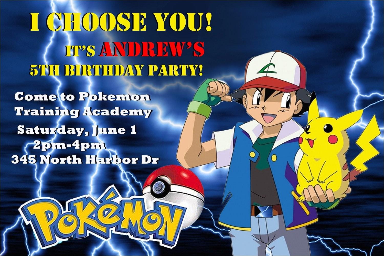 pokemon customized printable birthday