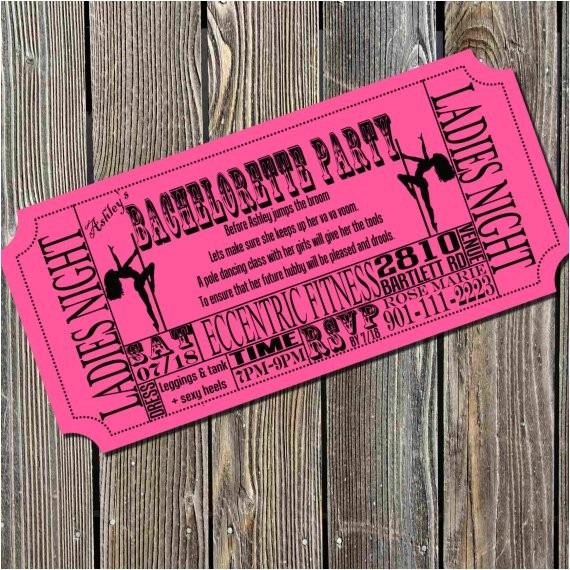 pole dancing bachelorette party ticket