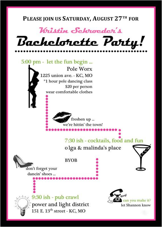 pole dance party invitations