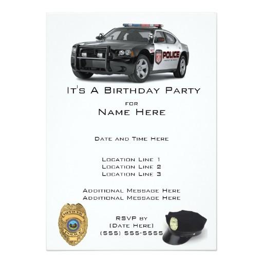 police birthday invitations 161578463907340313