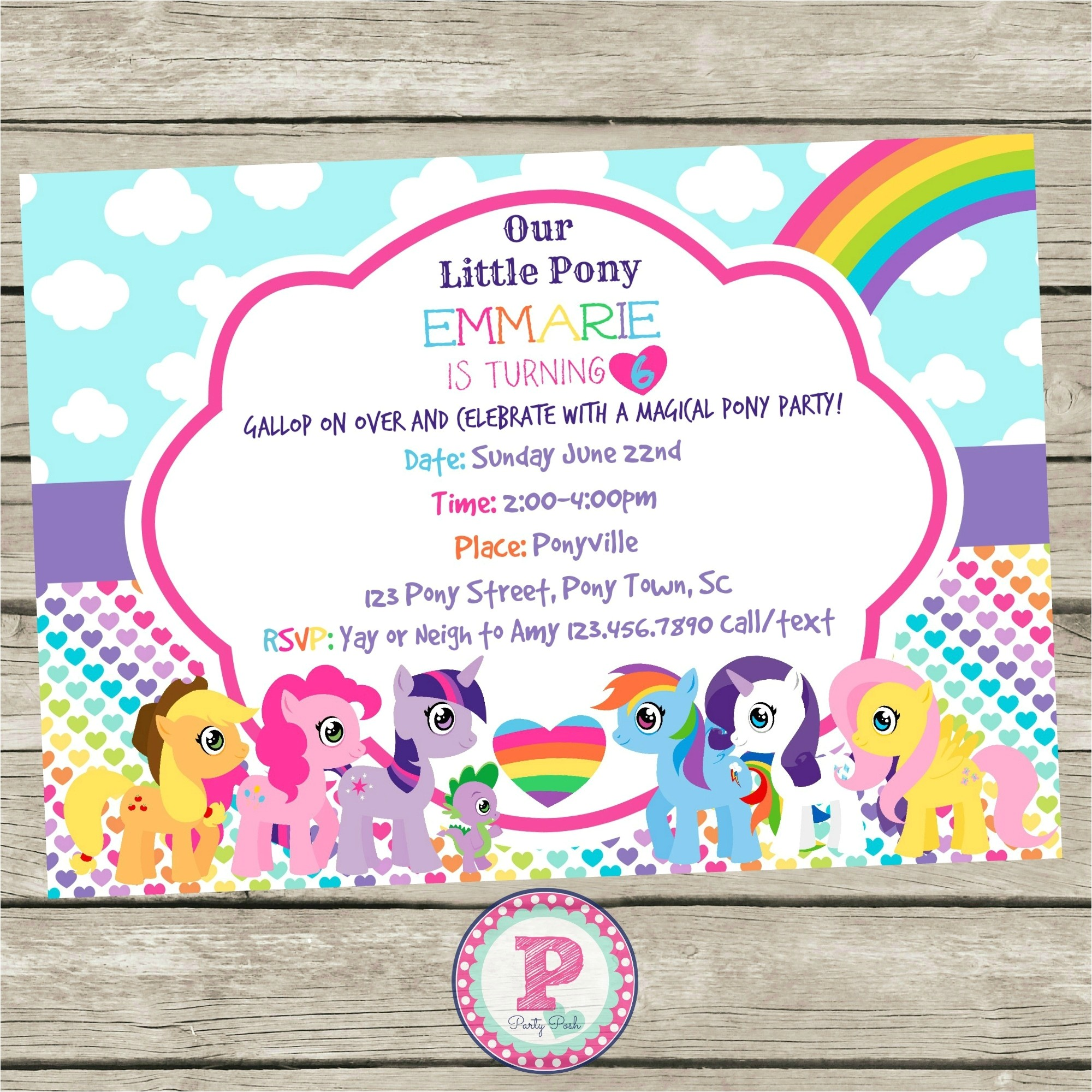 Pony Party Invitation Templates My Little Pony Invitation Template Resume Builder