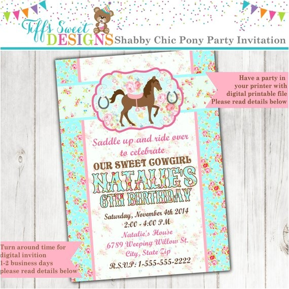 pony invitation horse invitation cowgirl invitation 10
