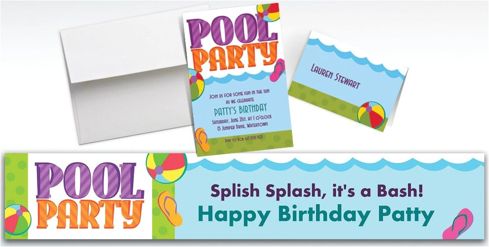 custom pool party invitations thank you notes do