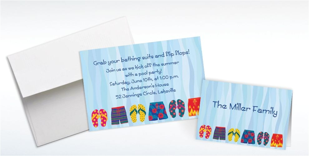 custom pool party time invitations thank you notes do