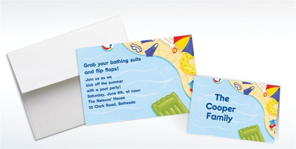 custom summer pool party invitations thank you notes do
