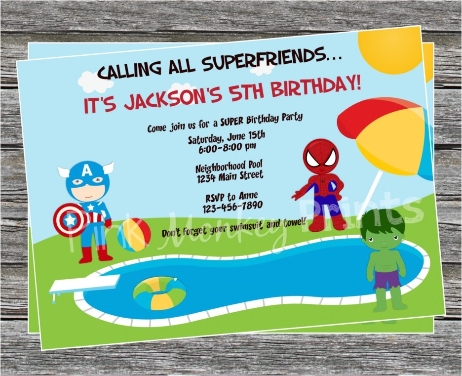 homemade pool party invitation ideas