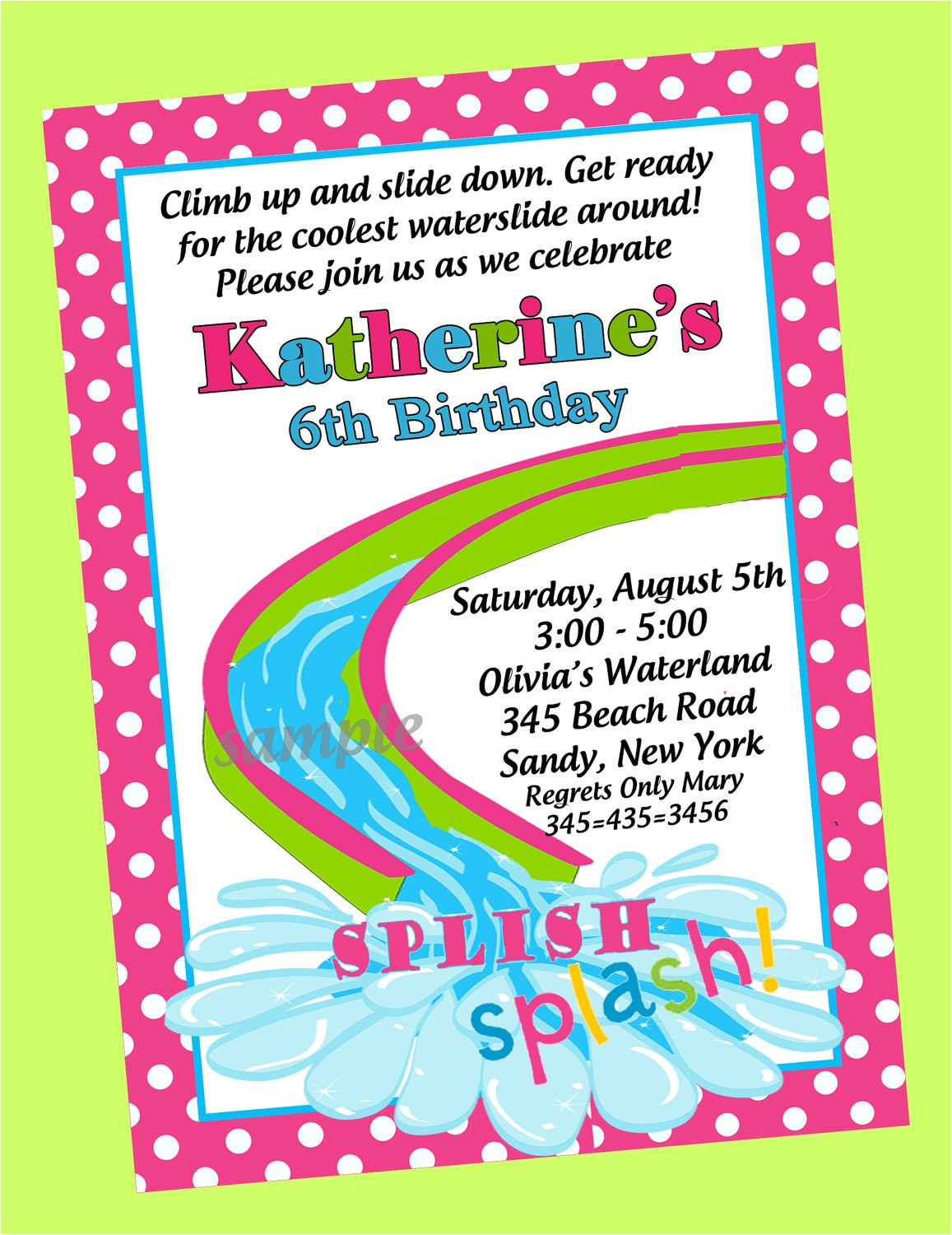 birthday pool party invitations template