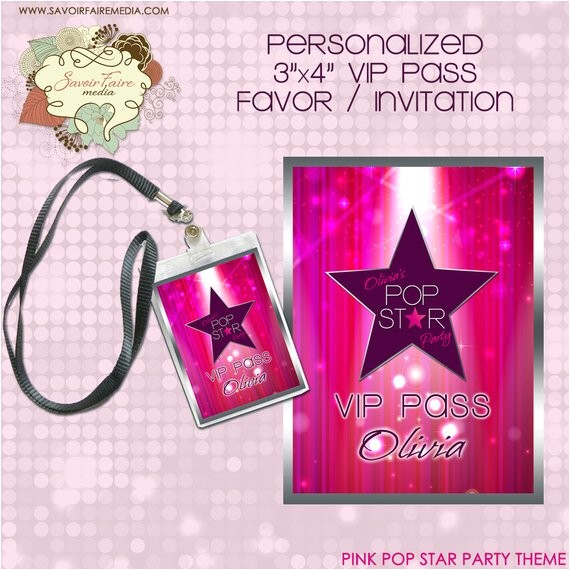 pink pop star rock star party printable