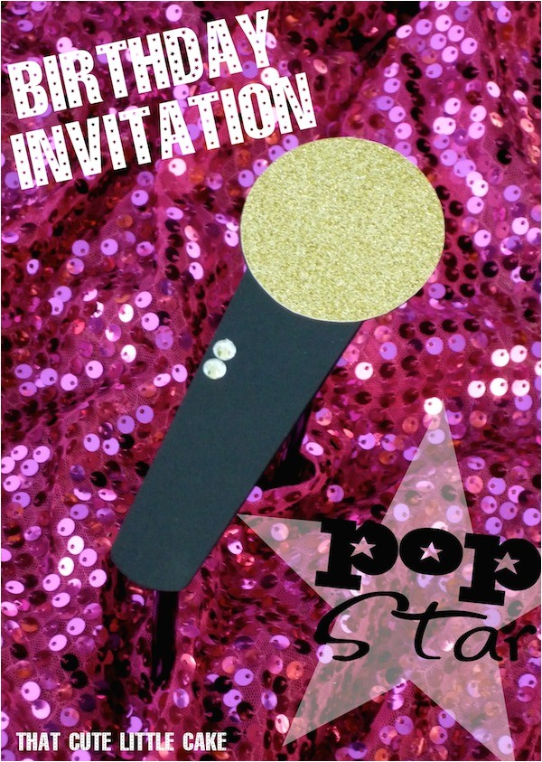 pop star party invitations