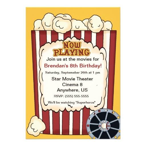 popcorn invitation template