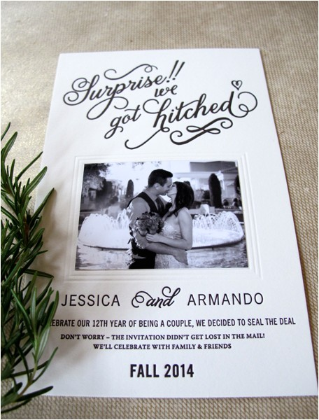 Post Elopement Party Invitation Happily Ever afterparty Post Elopement Party Invites On