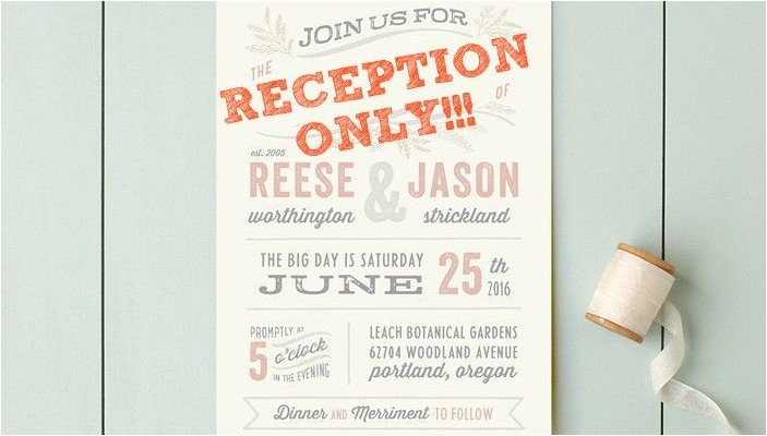 post elopement reception wording the invitations